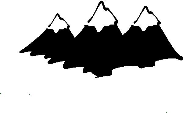 clip transparent stock Mountain Peak Silhouette at GetDrawings