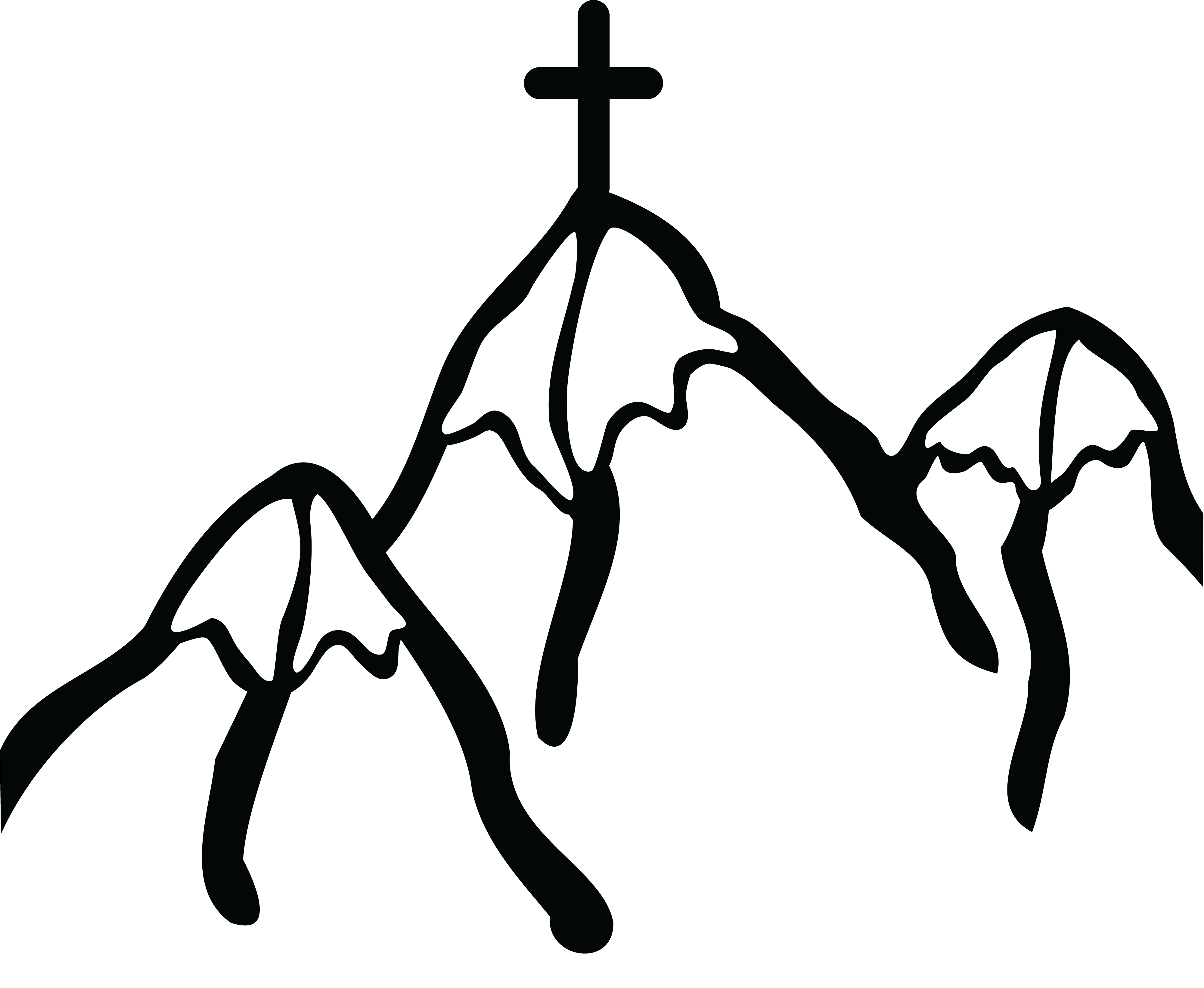 picture freeuse Cross clipart black and white png. Mountains desktop backgrounds free