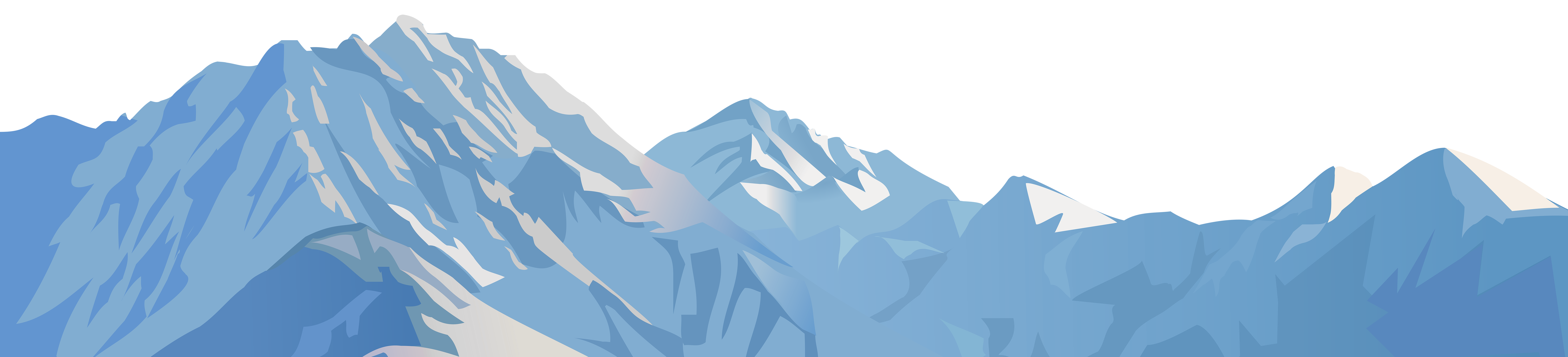 graphic free stock Snowy mountain transparent clip. Glacier clipart.