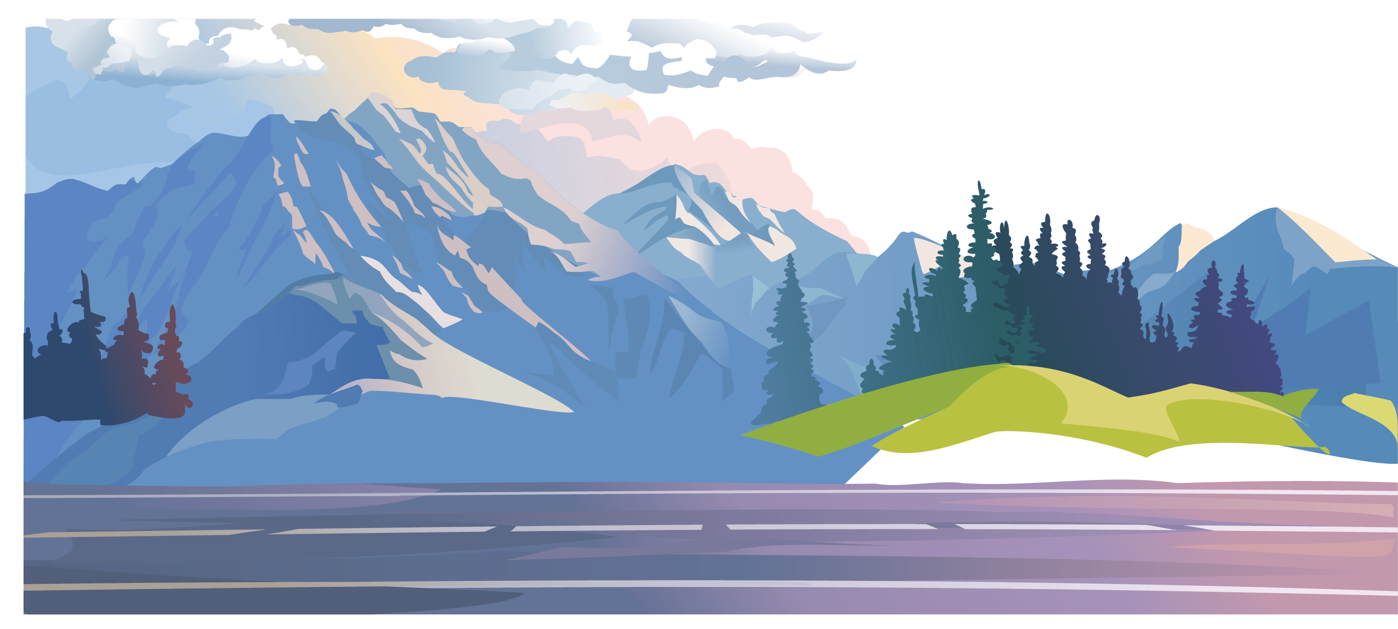 clip transparent library Mountain clipart sea. Arctic mountains free on.