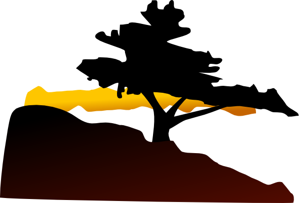 clip art royalty free stock Mountain And Trees Clipart