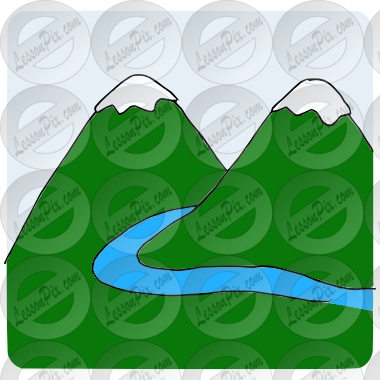 svg freeuse stock Mountain Stream Picture for Classroom