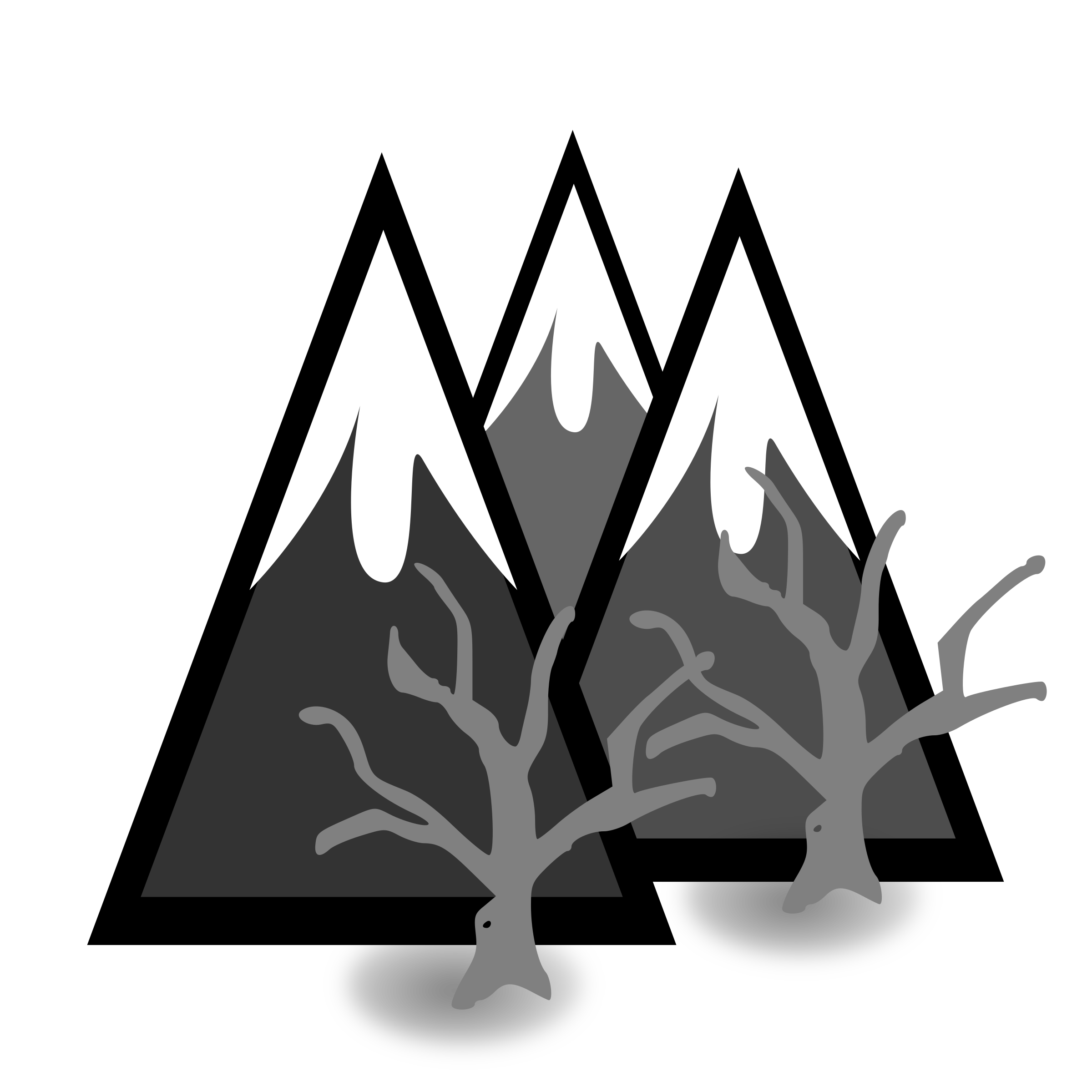 picture free Dead forest big image. Mountains black and white clipart
