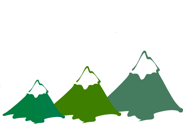 image free library Three mountain peaks green. Mountains clipart.
