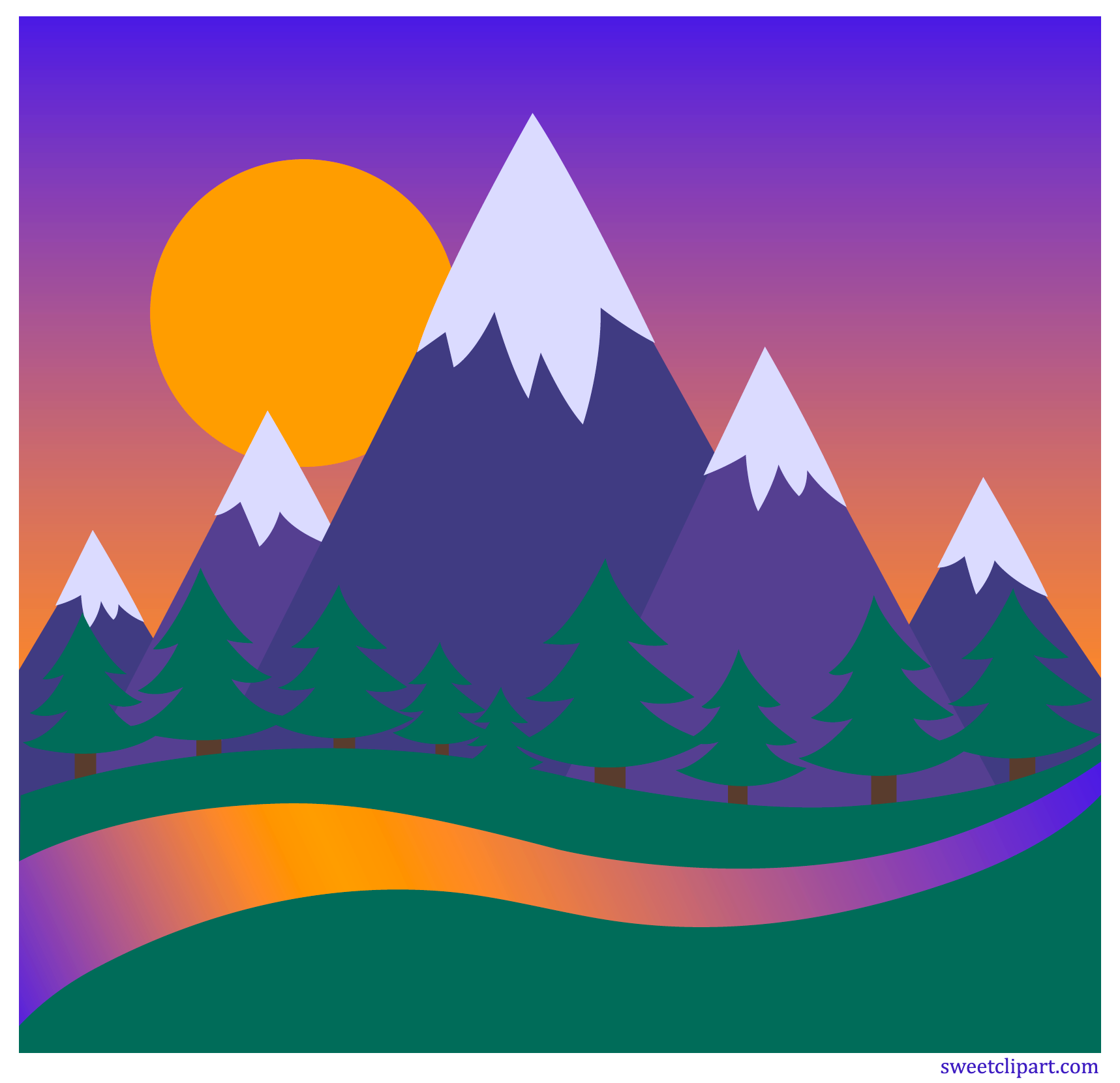 clip royalty free download Mountains clipart. Images gallery for free.