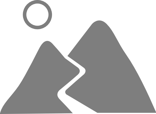 clip transparent library Mountain road gray clip. Mountains clipart black and white