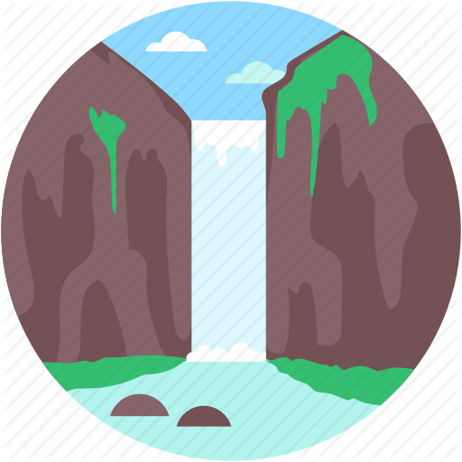 picture transparent stock Mountains clipart waterfall. Landscape by creative stall.