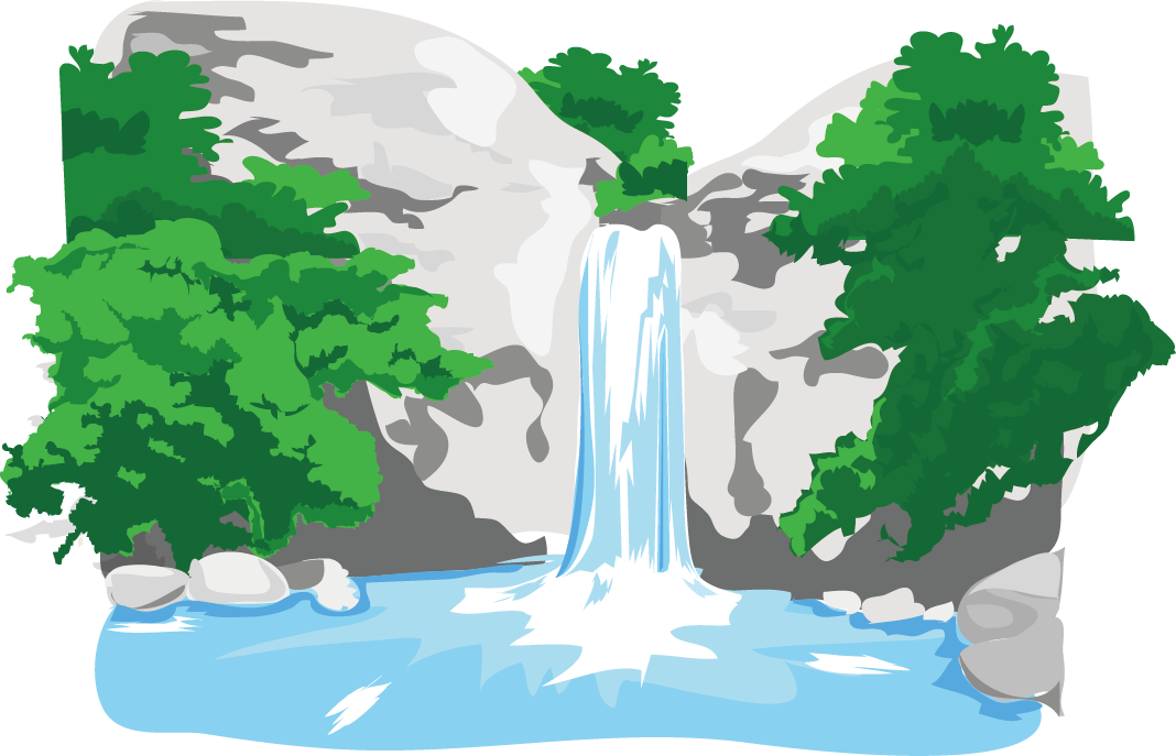 free Mountains clipart waterfall. River the wisp mountain.