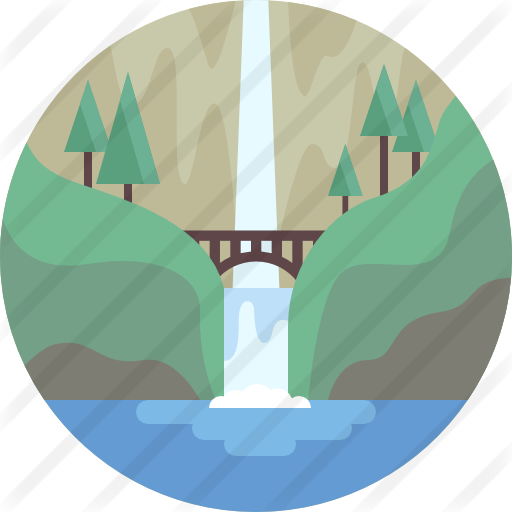 banner royalty free download Free nature icons. Mountains clipart waterfall.