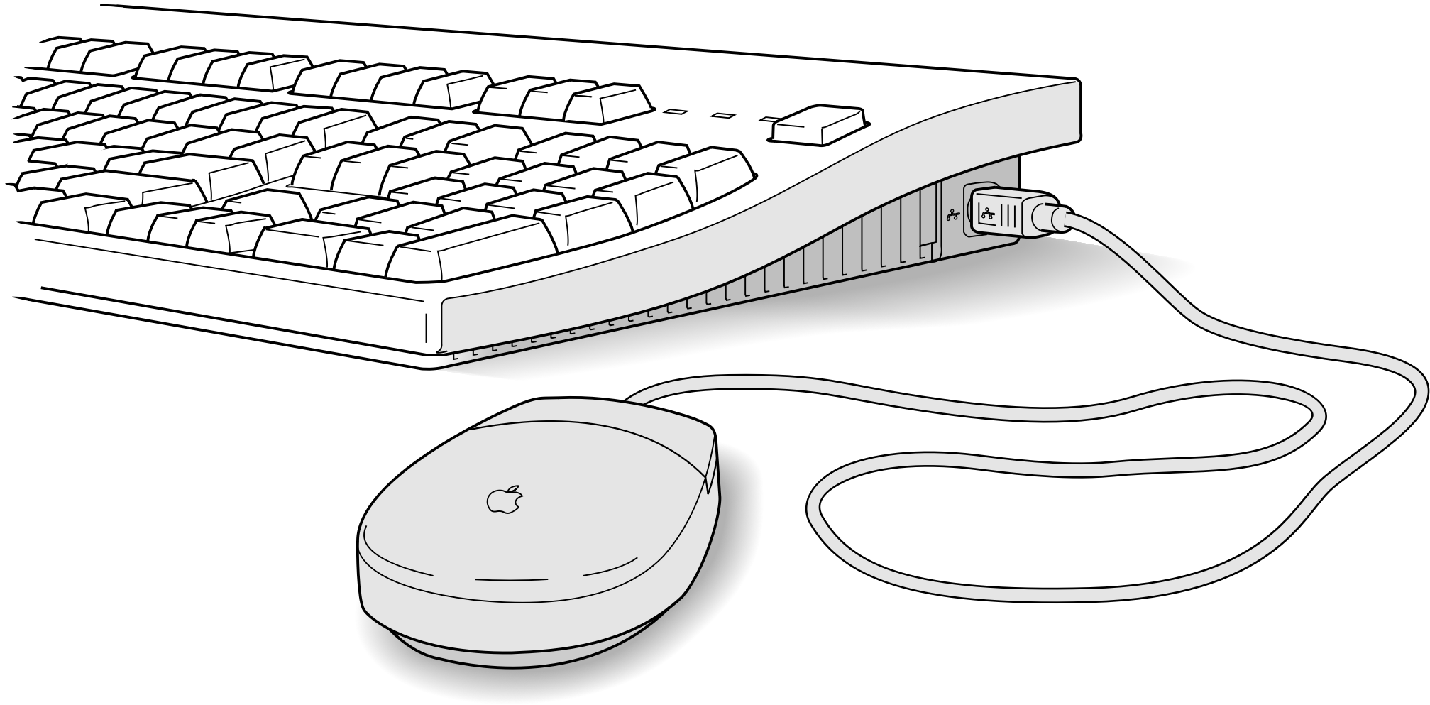 svg black and white download  collection of high. Mouse and keyboard clipart