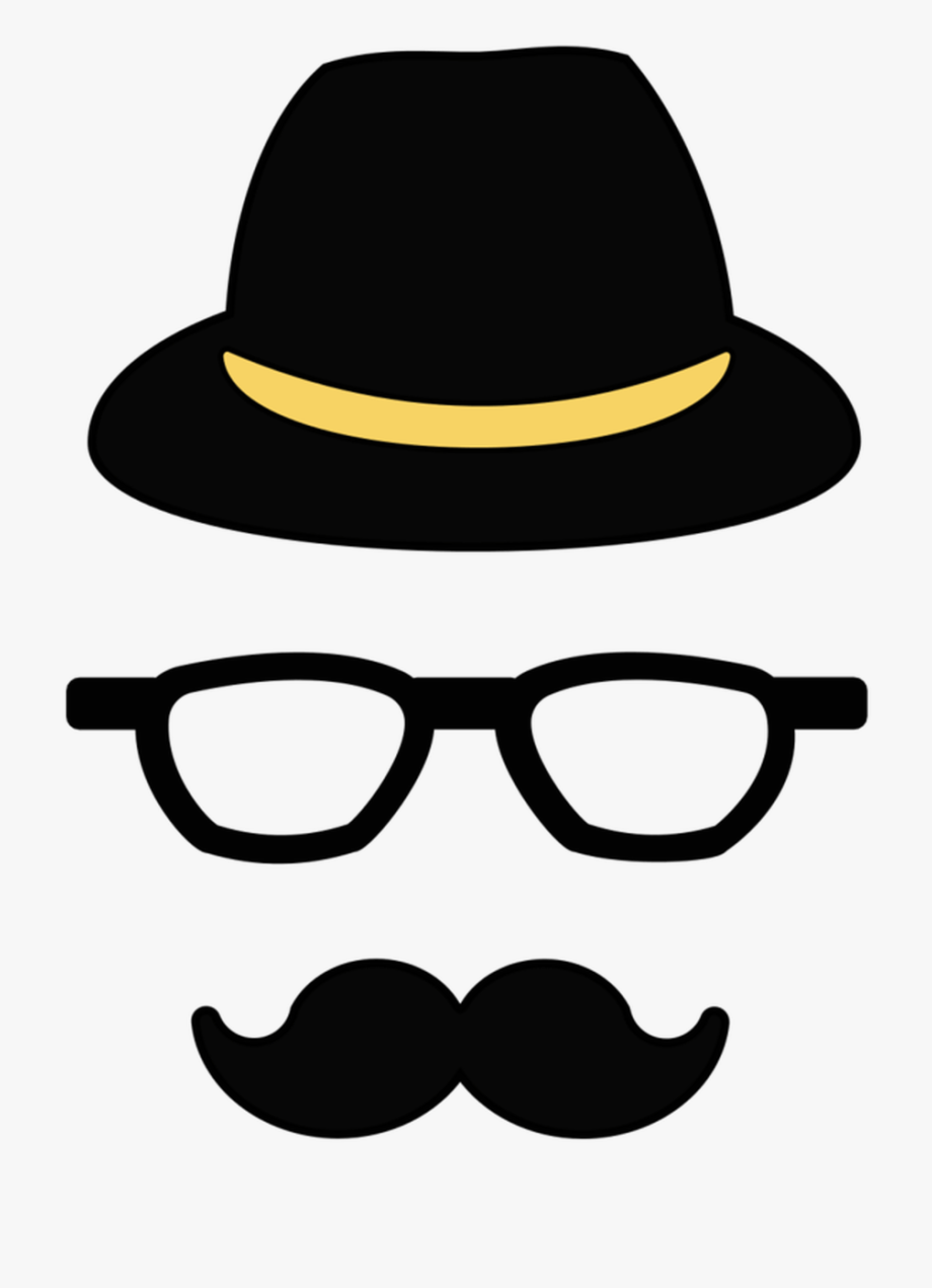 jpg black and white library Mustache png transparent cartoon. Moustache clipart hipster.