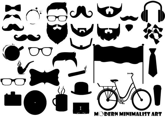 vector royalty free stock Beard clipart minimalist. Pin by ryan johnson