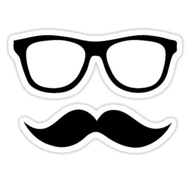 banner royalty free library Moustache with glasses by. Mustache clipart geek glass.