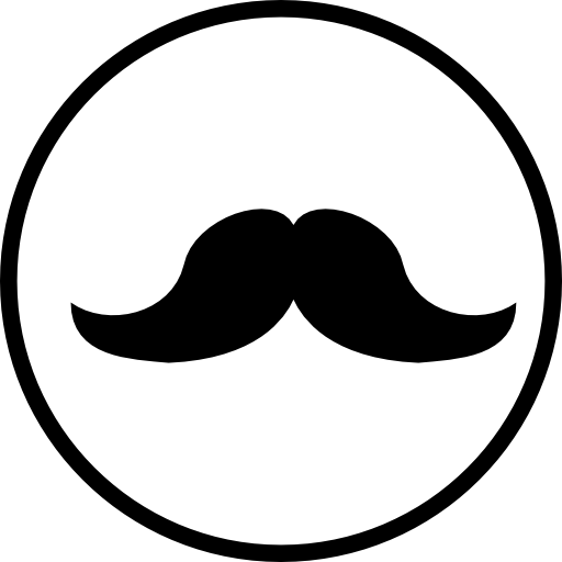 clipart black and white stock Moustache clipart shape. Mustache in a circle.