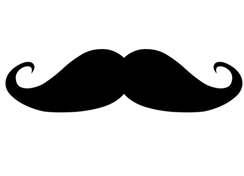 graphic black and white stock Moustache high resolution free. Beard clipart logo.