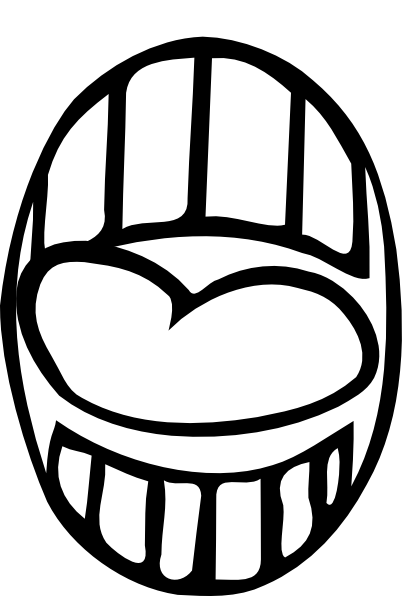 graphic freeuse Mouth And Tongue Clipart Black And White