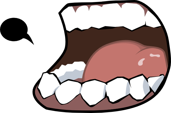 clipart Mouth And Tongue Clipart Black And White