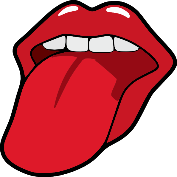 clip art freeuse library Mouth clipart. Tongue and .