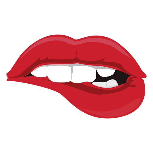 clip art royalty free stock Drawn tongue lip free. Bite vector