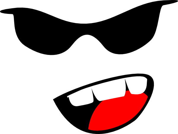 vector black and white download Yelling Emoticon Clip Art at Clker