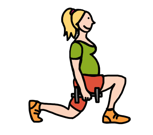 vector transparent stock In pregnancy a must. Movement clipart baby exercise.