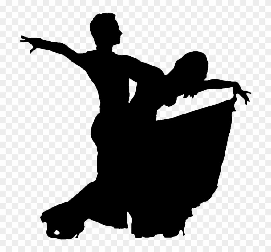 svg free Dancer ballroom dancing silhouette. Movement clipart dance movement.