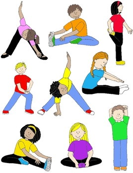 clip library library Pin on pe class. Kids stretching clipart