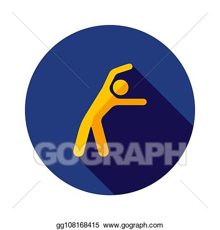 clip freeuse library Vector stock man exercising. Movement clipart morning exercise.