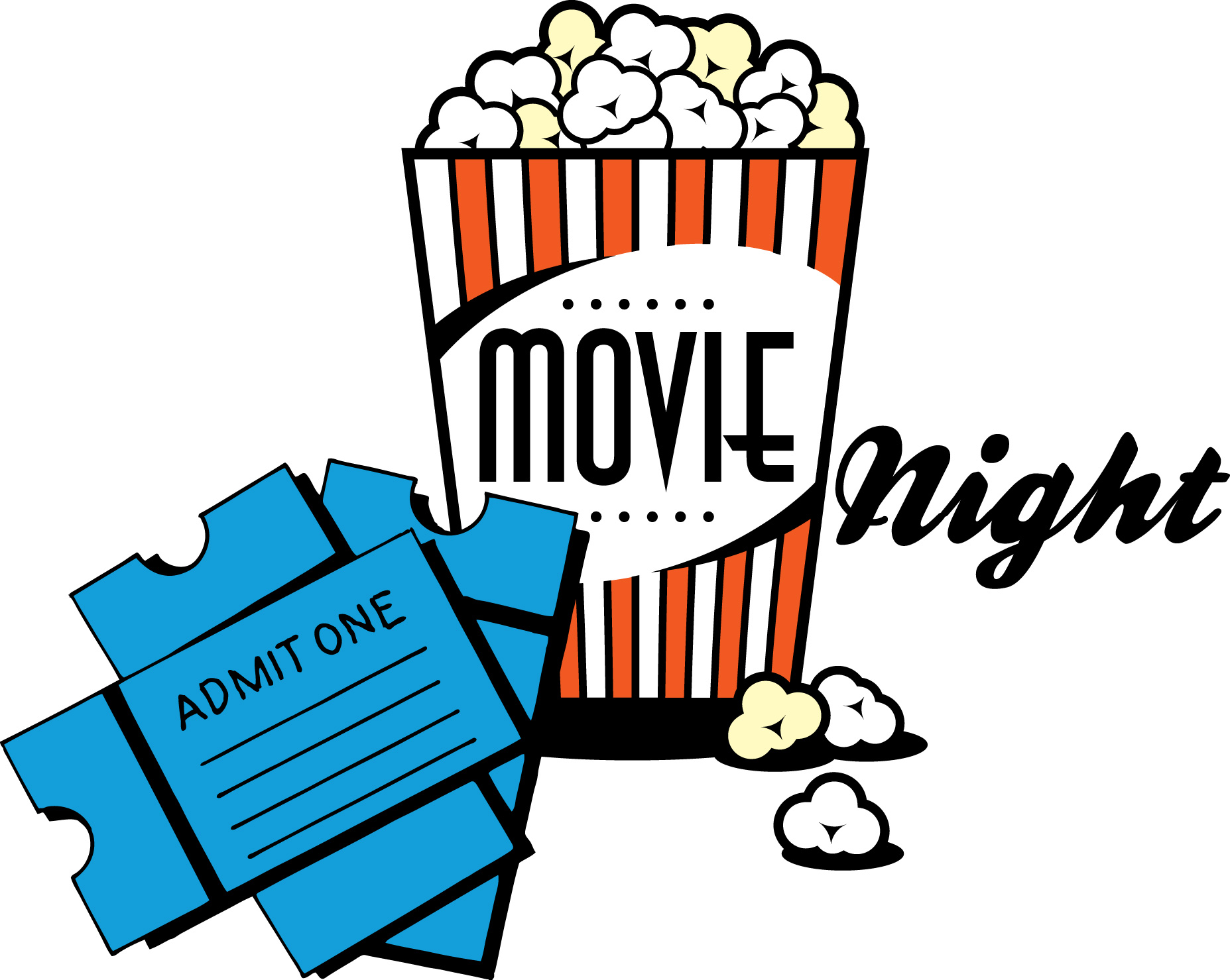 svg royalty free download Kids movie night clipart. Free cliparts download clip