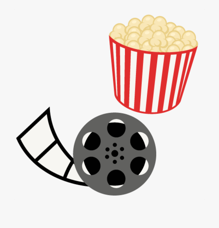 jpg Movie clipart. Free popcorn reel night.