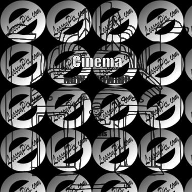 svg stock Cinema Outline for Classroom