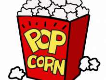 clip black and white library Movies clipart. Movie popcorn night panda