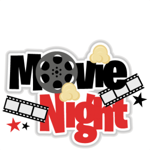 png freeuse stock Movie night title svg. Movies clipart