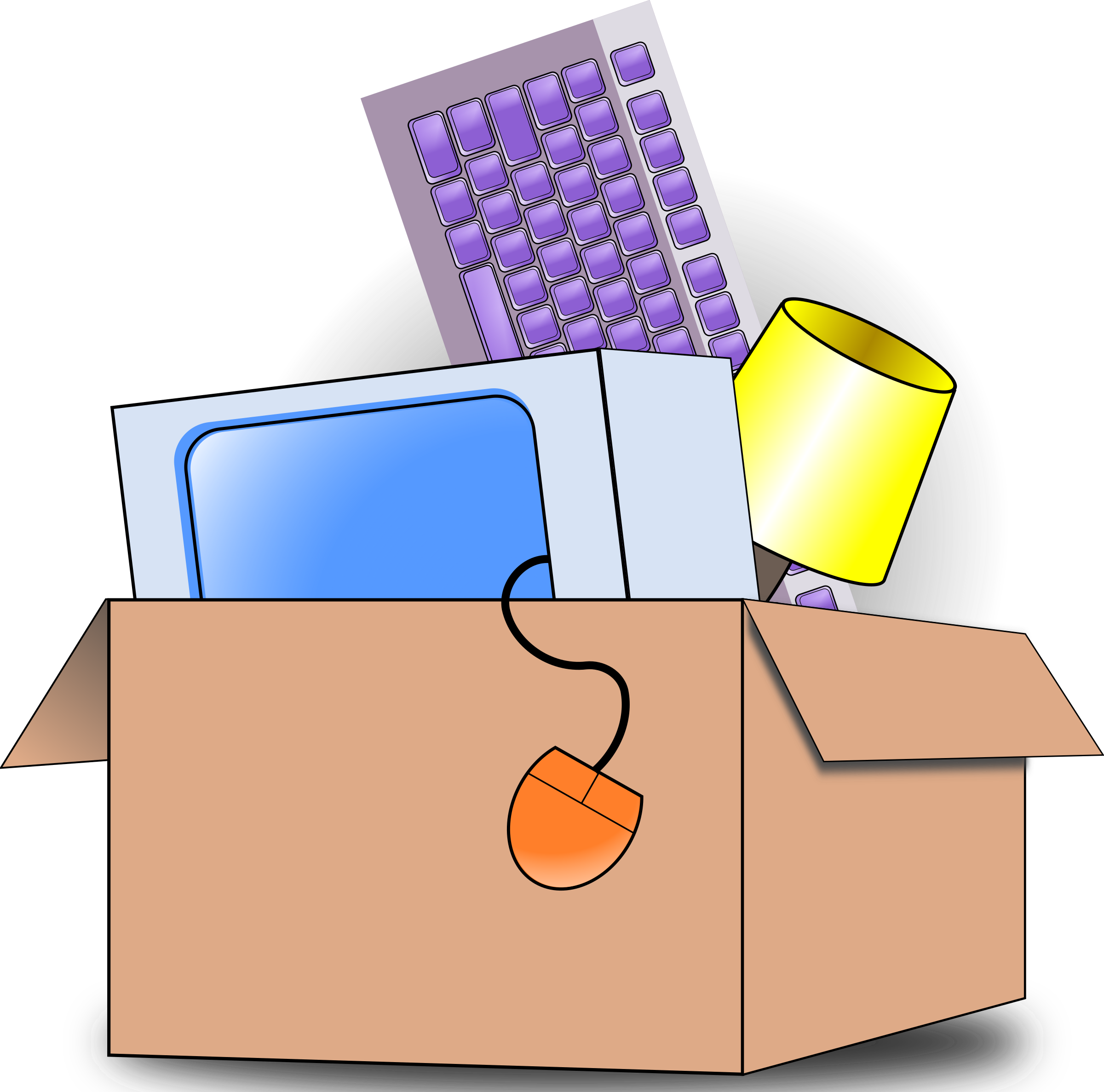 clip free download Moving boxes clipart black and white. Packing big image png