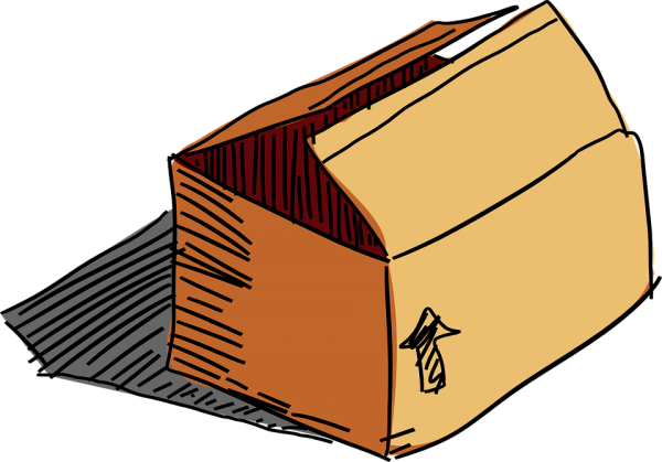 vector royalty free stock Pin by charlie snipes. Moving boxes clipart.