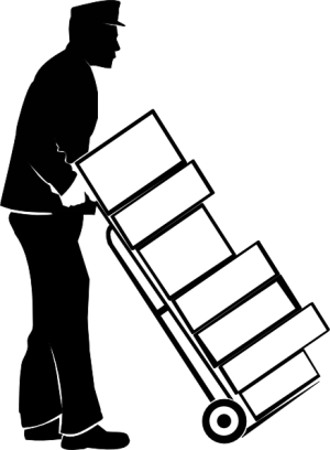 clipart library library Moving boxes clipart black and white.  man move team