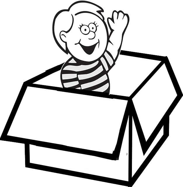 jpg transparent library Moving boxes clipart black and white. Facts by sarah hendrick