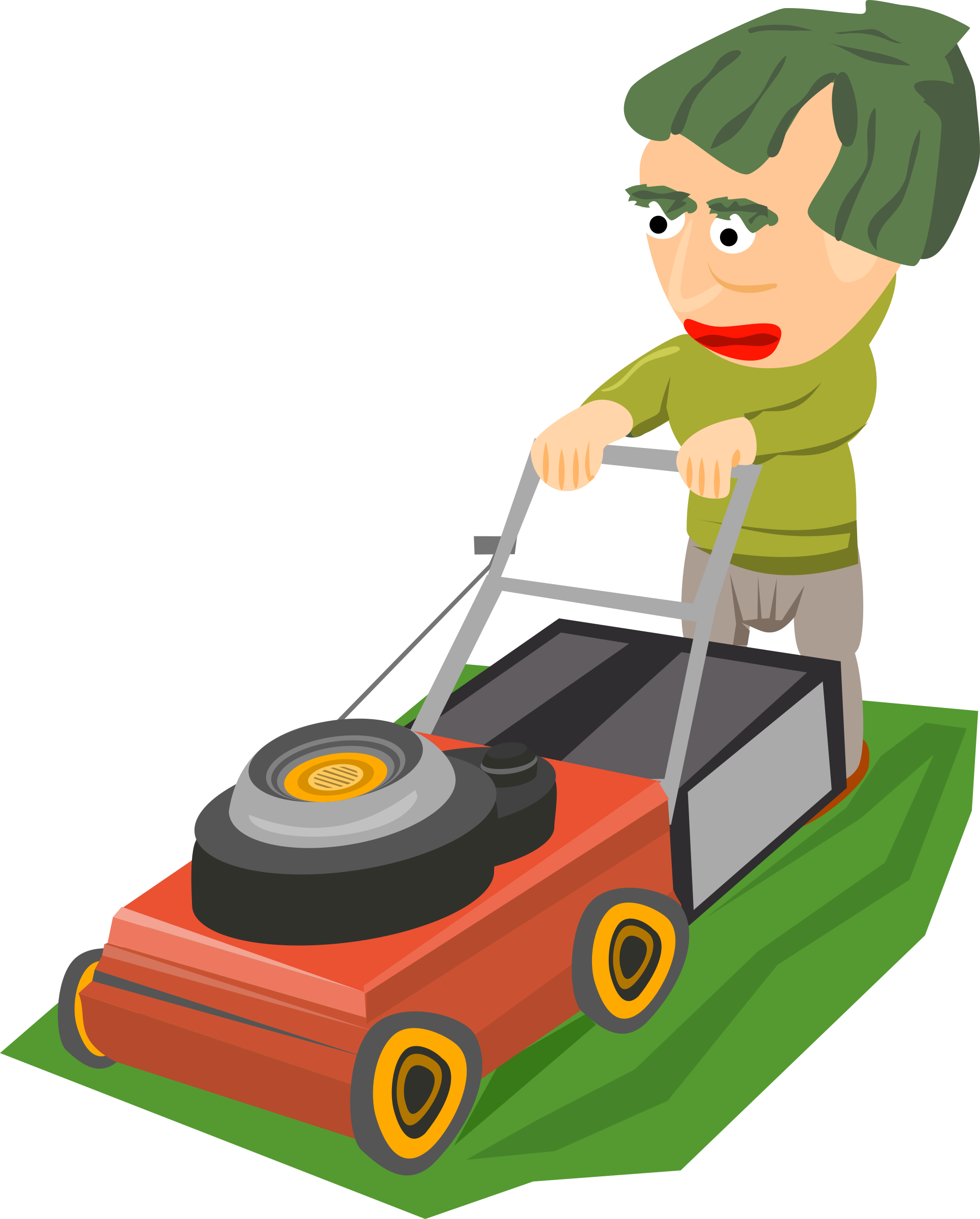 svg royalty free download Mowing clipart. The lawn big image