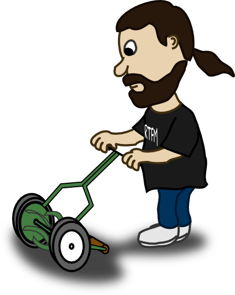 png library stock Pushing clip art at. Lawn mower clipart lawnmower man.