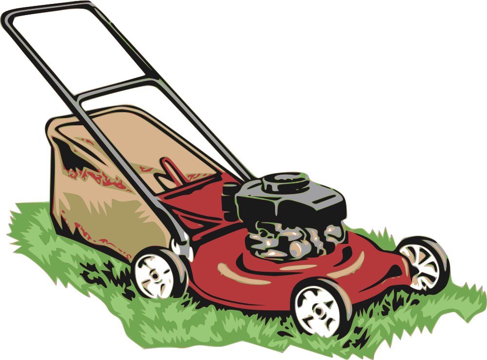 image download Mowing clipart lawn equipment. Onlinelabels clip art red.