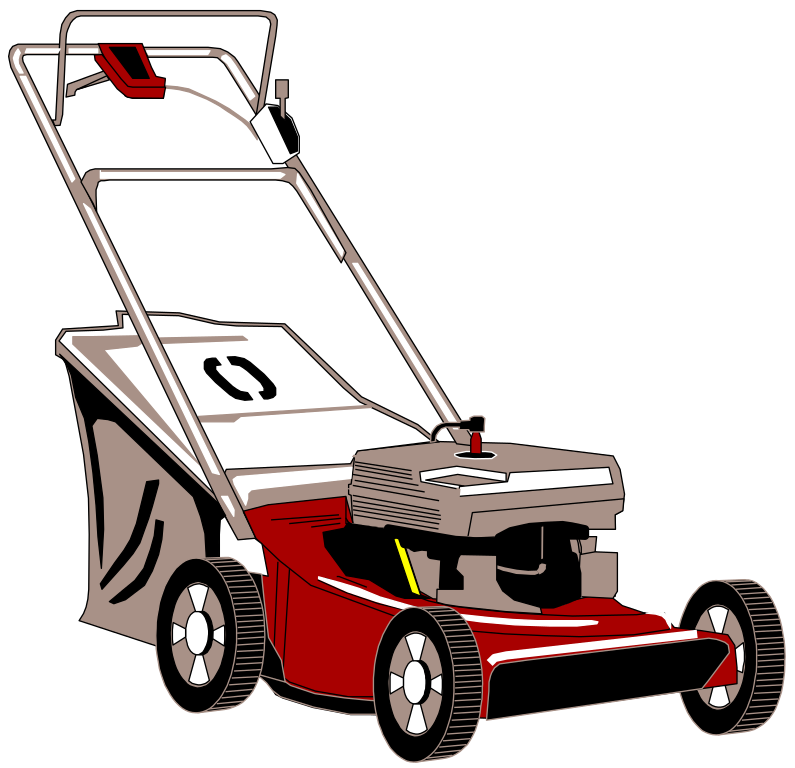 jpg royalty free File mower svg wikimedia. Mowing clipart lawn equipment.