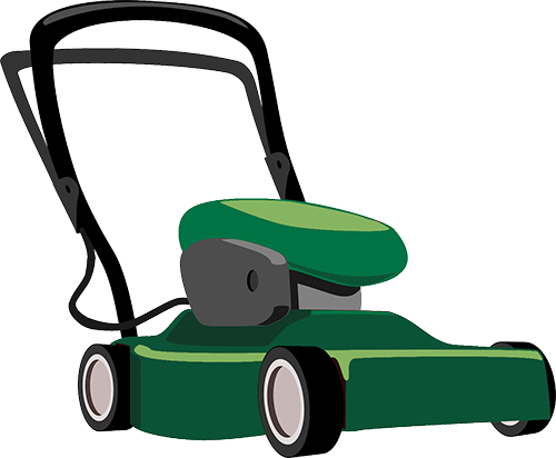 png black and white stock lawnmower clipart jardinero #80389863