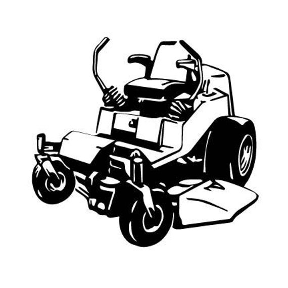 graphic black and white library Mowing clipart zero turn. Mower lawn outline svg.