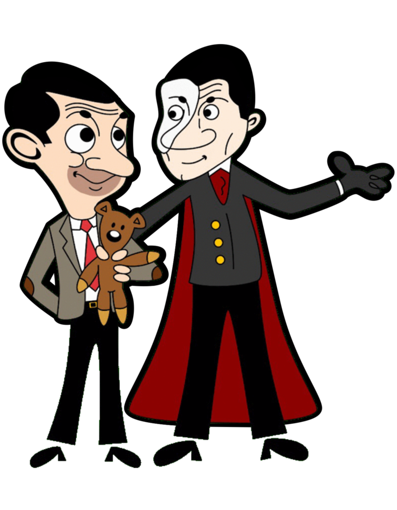 transparent library Bean drawing cartoon. Phantom giving mr a
