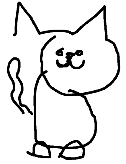 svg freeuse download Ms drawing cat. Draw a in paint