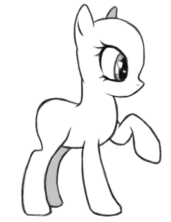 clip art royalty free Simple FIM Pony base lines by lane