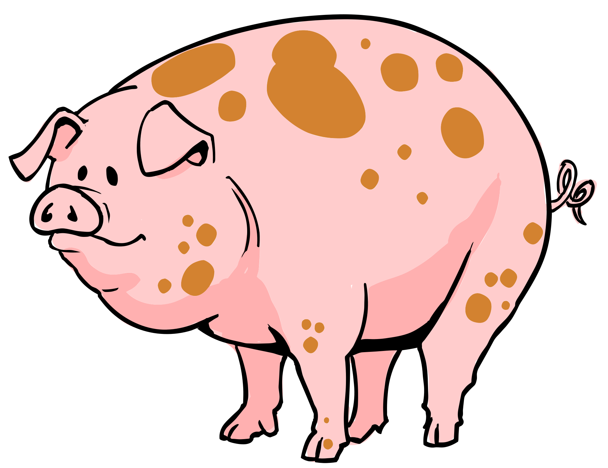 image black and white stock Mud clipart svg. File pig cartoon wikimedia