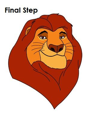 banner black and white download Pin on disney . Mufasa drawing head