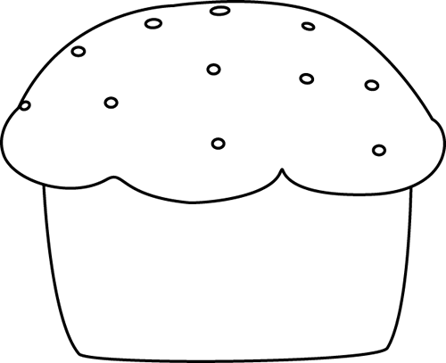 svg Muffin clipart black and white. Clip art image.