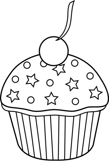 png free stock Muffin clipart black and white. Cupcake lineart theme pinterest.